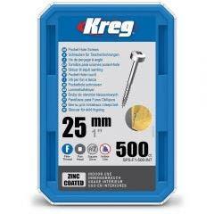 KREG Pocket Hole Screws Coarse Blue-Kote 32mm - 100 Piece KR-SPSF1-500