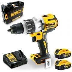 DEWALT 18V Brushless 2 x 5.0Ah 13mm Hammer Drill Kit DCD996P2-XE