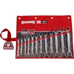 SIDCHROME R/Oe Metric Geared In Wallet Spanner Set 12Pce SCMT22298