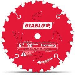 DIABLO 150mm 20T TCT Circular Saw Blade for Wood Cutting - FRAMING