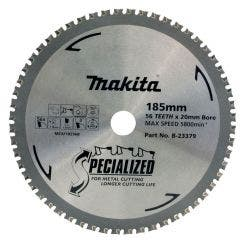 MAKITA 185mm 56T TCT Circular Saw Blade for Metal Cutting - SPECIALIZED