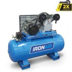 IRONAIR 5.5HP 200L 2 Cylinder Belt-Drive Air Compressor LB26200S3