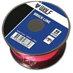 WoLF 100m Fluro Pink Brick Line WBL001