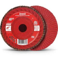 JOSCO 125mm 40-Grit Ceramic Flat Flap Disc