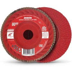 JOSCO 125mm 80-Grit Ceramic Flat Flap Disc