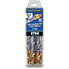 P&N WORKSHOP 10.0 x 133mm HSS-TiN Jobber Drill Bit - 5 Piece