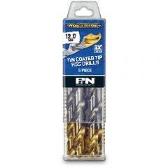 P&N WORKSHOP 12.0 x 151mm HSS-TiN Jobber Drill Bit - 5 Piece