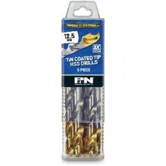 P&N WORKSHOP 12.5 x 151mm HSS-TiN Jobber Drill Bit - 5 Piece
