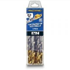 P&N WORKSHOP 7/64inch x 67mm HSS-TiN Jobber Drill Bit - 10 Piece