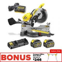 DEWALT 2 x 54V 305mm Sliding Comp Mitre Saw DHS780T2AXE