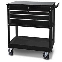 SP TOOLS 4 Drawer Black Custom Technicians Trolley SP40015