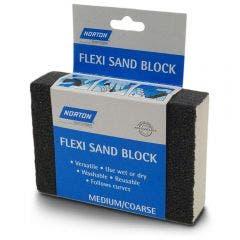 NORTON Medium/Coarse Foam Hand Sanding Block - FLEXI SAND