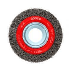 JOSCO 100mm Crimped Wheel Brush Steel Wire 100A