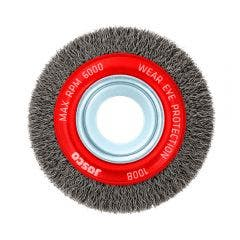 JOSCO 100mm Crimped Wheel Brush Steel Wire 100B