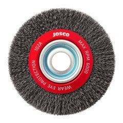 JOSCO 150mm Crimped Wheel Brush Steel Wire 102A