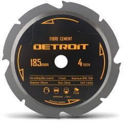 DETROIT 185mm 4T PCD Circular Saw Blade for Fibre Cement Cutting