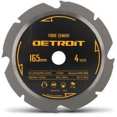 DETROIT 165mm 4T PCD Circular Saw Blade for Fibre Cement Cutting