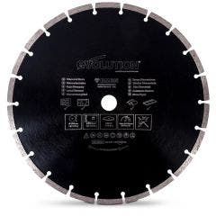 EVOLUTION 305mm Segmented Diamond Blade for General Purpose Cutting