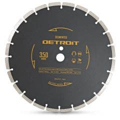 DETROIT 350mm Segmented Diamond Blade for General Purpose Cutting