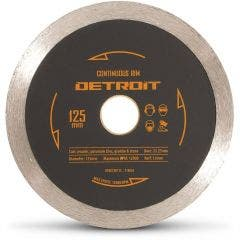 DETROIT 125mm Continuous Rim Diamond Blade for Ceramic Cutting