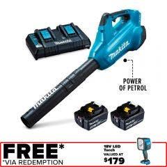 MAKITA 36V (2x18V) 2 x 5.0Ah Dual Battery Turbo Blower Combo Kit DUB362PT2