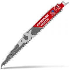 MILWAUKEE 230mm 5TPI TCT Reciprocating Saw Blade for Wood/Nail Demolition - THE AX