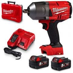 MILWAUKEE M18 Fuel 1/2inch High Torque Impact Wrench with Pin Detent Kit M18FHIWP12502C