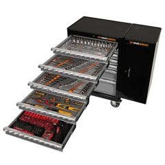 GEARWRENCH 271 Piece Tool Kit 7 Drawer 26 Inch Roller Cabinet Wside Cabinet 89918