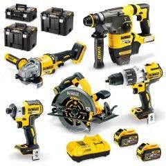 DEWALT 18/54V Brushless XR FLEXVOLT 5 Piece 2 x 9.0Ah Combo Kit DCZ597X2T-XE