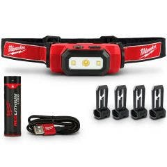MILWAUKEE USB Rechargeable Hard Hat Headlamp Kit L4HL201