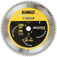 DEWALT 305mm 78T TCT Circular Saw Blade for Wood Cutting - EXTREME DT99596-QZ