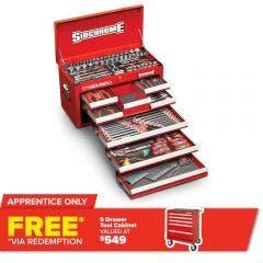 SIDCHROME 204 Piece 8 Drawer Chest MET/AF Tool Kit SCMT10158