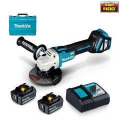 MAKITA 18V 125mm Brushless Slide Switch Angle Grinder Kit DGA511RTE