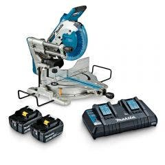 MAKITA 18Vx2 Brushless AWS 2 x 5.0Ah 260mm Slide Compound Mitre Saw Kit DLS111PT2