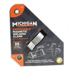 MICHIGAN Multi-Angle 35kgf Switchable Magnetic Welding Clamp MMAGSSW35