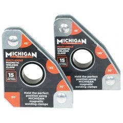 MICHIGAN Multi-Angle 15kgf 2 Pack Magnetic Welding Clamp MMAGMUL152