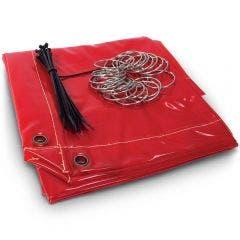 MICHIGAN 1.74m2 Red Welding Curtain MCRTRED18