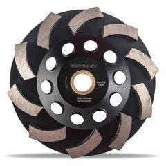 DETROIT 125mm 10-Segment Spiral Diamond Grinding Cup