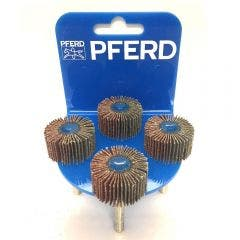 PFERD 30 x 15mm 80-Grit Mounted Flap Wheel - 4 Piece