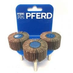 PFERD 40 x 20mm 60-Grit Mounted Flap Wheel - 3 Piece