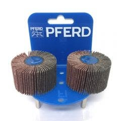 PFERD 50 x 30mm 60-Grit Mounted Flap Wheel - 2 Piece