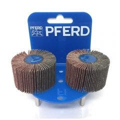 PFERD 50 x 30mm 80-Grit Mounted Flap Wheel - 2 Piece