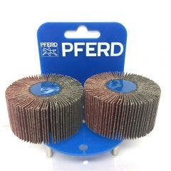 PFERD 60 x 30mm 60-Grit Mounted Flap Wheel - 2 Piece