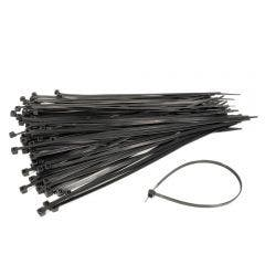 DETROIT 4.8x300mm 100 Pack Black Cable Ties DCT30048MM