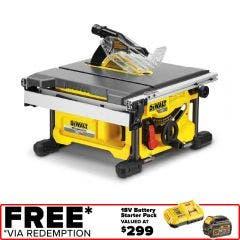 DEWALT 54V XR FlexVolt Brushless 210mm Table Saw Skin DCS7485N-XJ