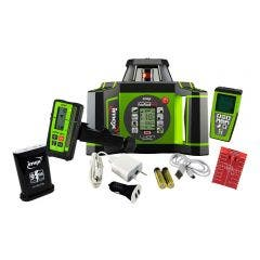 IMEX 600m Red Beam Rotary Laser Level with mm-Receiver + Tripod + Staff 012I99RK