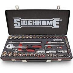 SIDCHROME 56 Piece 1/4 & 1/2 Metric/AF Socket Set