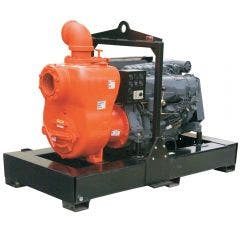 AUSSIE PUMPS Diesel 6inch 60HP DEUTZ E/Star Trash Skid MQ600TD80SKM