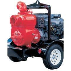 AUSSIE PUMPS Diesel 6inch 60HP DEUTZ E/Start Trash Trailer MQ600TD80