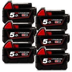 MILWAUKEE 18V 6x5.0Ah Battery Pack M18B56